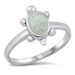 Silver Lab Opal Ring - Turtle - $6.99