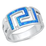 Silver Lab Opal Ring - Aztec - $10.92