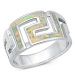 Silver Lab Opal Ring - Aztec - $14.63
