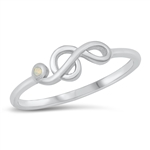 Silver CZ Ring - Music Note - $4.66