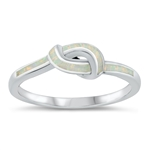 Silver CZ Ring - Knot - $7.53