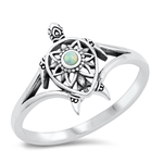 Silver CZ Ring - Turtle - $5.46