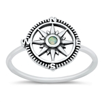 Silver CZ Ring - Compass - $5.30