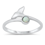 Silver CZ Ring - Whale Tail - $4.51