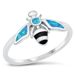 Silver CZ Ring - Bee - $7.42