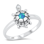 Silver CZ Ring - Turtle - $4.96