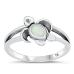 Silver CZ Ring - Turtle - $4.54