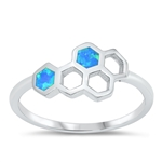 Silver CZ Ring - Honeycomb - $5.32