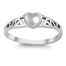 Silver Ring - Heart  - $2.78