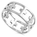 Silver Ring - Cross  -  $5.85