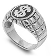 Silver Ring - Dollar Sign -  $18.36
