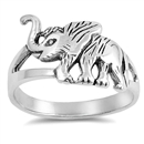 Silver Ring - Elephant  -  $4.38
