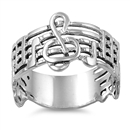 Silver Ring - Music Note - $5.43