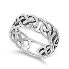 Silver Celtic Ring - $6.24