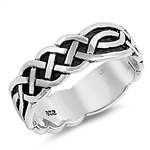 Silver Celtic Ring - $7.70