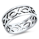 Silver Ring - Christian Fish - $5.22