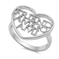 Silver Ring - Friend Amigo Ami - $8.71