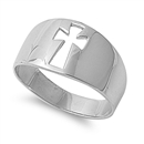 Silver Ring - Cross  -  $6.92