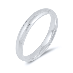 Silver Wedding Band - 3MM