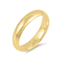 Silver Wedding Band - 4MM