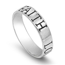 Silver Ring - Faith Love Hope - $4.68