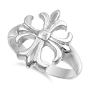 Silver Ring - Cross  -  $7.55