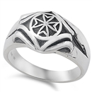 Silver Ring - Cross  -  $12.85