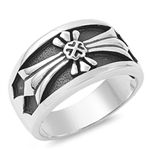 Silver Ring - Cross  -  $16.37