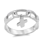 Silver Ring - Cross  -  $5.69