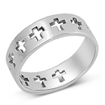 Silver Ring - Cross  -  $4.85