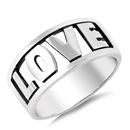 Silver Ring - Love  -  $6.83