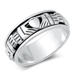 Silver Spinner Claddagh Ring  -  $10.45