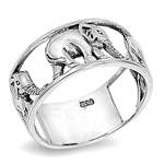Silver Ring - Elephant  -  $6.47