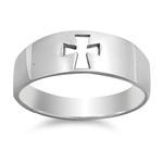 Silver Ring - Cross - Start $4.94