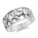 Silver Ring - Elephant  -  $5.96