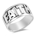 Silver Ring - Faith  -  $7.54