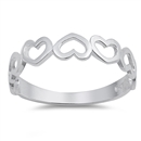 Silver Ring - Heart  -  $2.38
