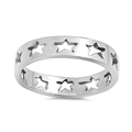 Silver Ring - Stars  -  $3.84