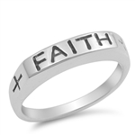Silver Ring - Faith - Start $5.99