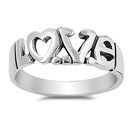 Silver Ring - Love  -  $8.57