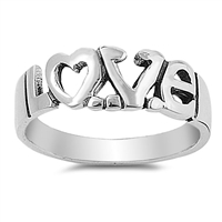 Silver Ring - Love - $9.43