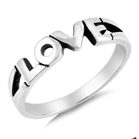 Silver Ring - Love - $3.73
