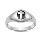 Silver Ring - Cross -  $4.76