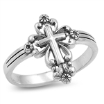 Silver Ring - Cross  -  $5.05