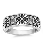 Silver Ring - Cross  -  $6.48