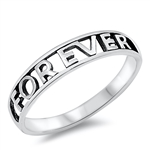 Silver Ring - Forever  -  $2.72