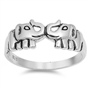 Silver Ring - Elephants  -  $4.66