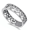 Silver Ring - Heart w/ Cross - $5.10