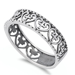 Silver Ring - Heart w/ Cross - $5.61