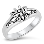 Silver Ring - Butterfly - $3.99